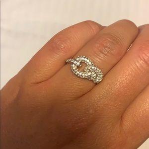 Swarovski knot ring